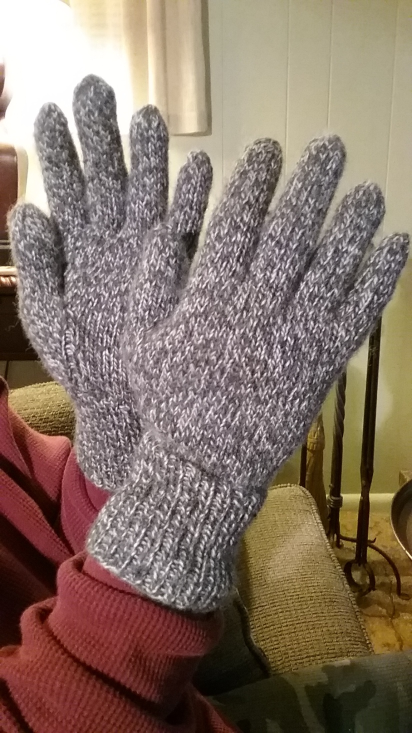 Knitting Gloves, and a Cap- Works in Progress Completed!