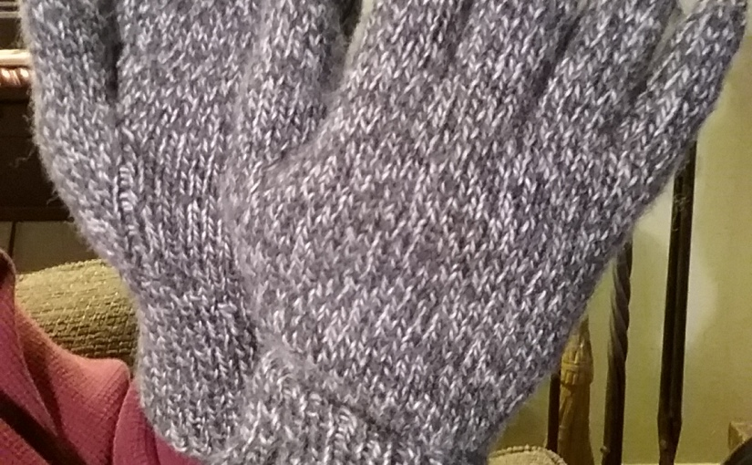 Knitting Gloves, and a Cap- Works in ProgressCompleted!